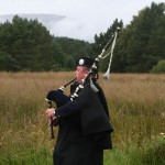 Piper heading the procession