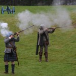 Glenbucket's Highland regiment opening fire