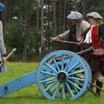 Glenbucket's Highland Regiment firing the field gun