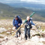 David Kerr and Walter Patrick on the way up Cairngorm - photo: Ann Wakeling